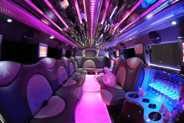 Cadillac Escalade Clearwater limo interior