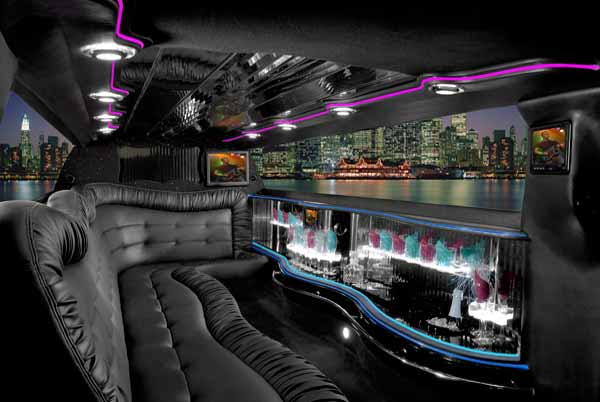 Chrysler 300 Bradenton limo interior